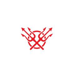 Magic tridenth trisula logo vector
