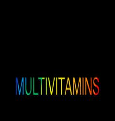 multivitamin label inspiration icon vitamins text vector image