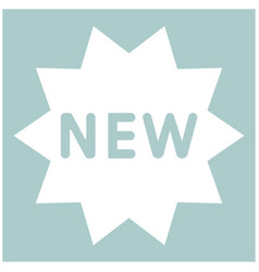 New symbol the white color icon vector