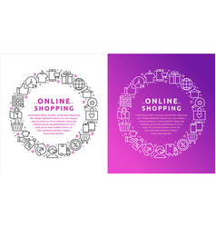 online shopping e-commerce vector image