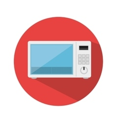 Oven microwave kitchen appliance isolated icon vector