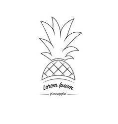Pineapple icon logo vector