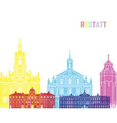 Rastatt skyline pop vector