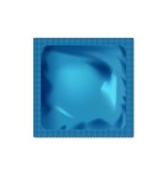 Realistic blank packaging foil wet wipes food vector image