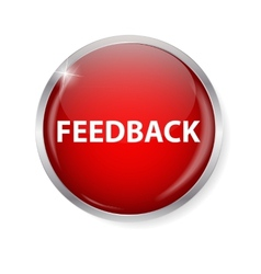 Realistic Glossy Feedback Computer Icon Button vector image