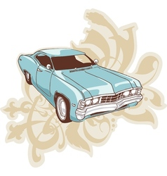 Retro Low-rider vector image