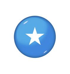 Round flag somalia button icon glossy badge vector