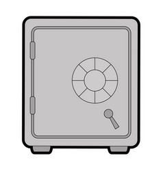 safe box isolated icon vector image
