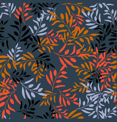 seamless olive branch pattern vector image