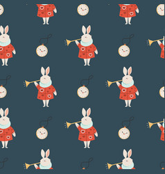 seamless pattern with symbols from alice vector image