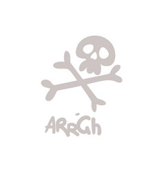 skull crossbones jolly roger pirates danger vector image