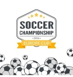 Soccer balls background vector