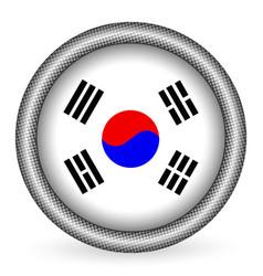 South korea flag button vector