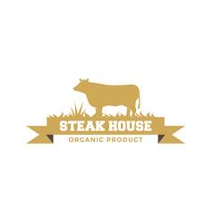 Steak house logo design inspiration vector