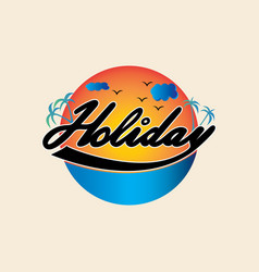 summer holiday logo vector image