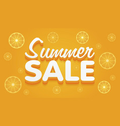 Summer sale yellow and orange banner vector