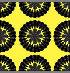 sunflower ripe black seed seamless pattern vector image