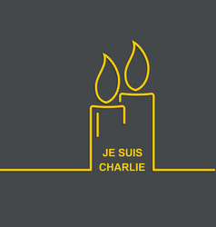 Symbol of solidarity in Paris vector