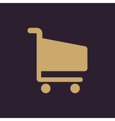 The cart shoping icon Shop Cart symbol Flat vector