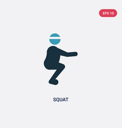 Two color squat icon from sports concept isolated vector