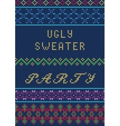 Ugly sweater template vector
