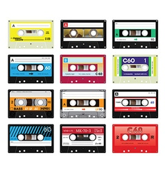 Vintage cassette tapes vol 4 vector image
