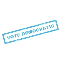 Vote Democratic Rubber Stamp vector image