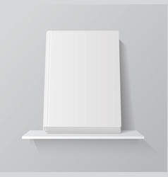 white empty book on shelf vector image