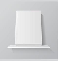 white empty book on shelf vector image