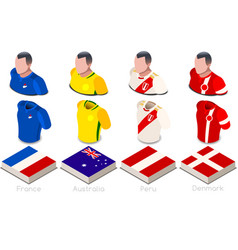 World cup group c jersey set vector