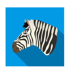 zebra icon in flat style isolated on white vector image