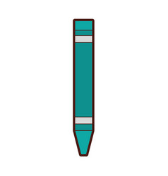 crayon color isolated icon vector image