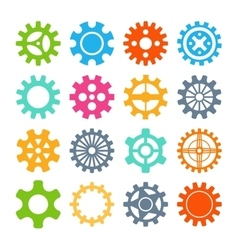 Gear icons isolated vector image