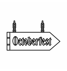 Sign with the word Oktoberfest icon outline style vector image vector image