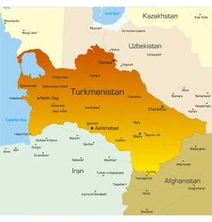 Turkmenistan country vector image vector image