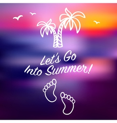 Blue ray sunset summer card invitation vector