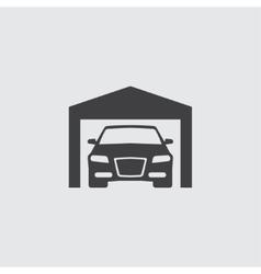 Car in garage icon vector image vector image