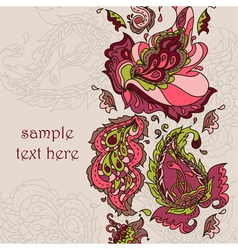 card with a paisley ornament vector image vector image