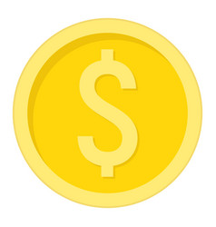 coin dollar flat icon business and finance money vector image
