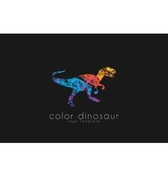 dinosaur logo design color logo animal logo vector image vector image