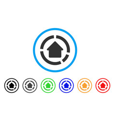 House diagram rounded icon vector