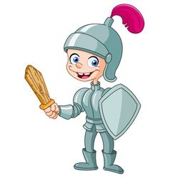 knight kid vector image vector image