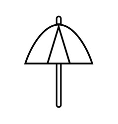 line umbrella protection of the change weather vector image