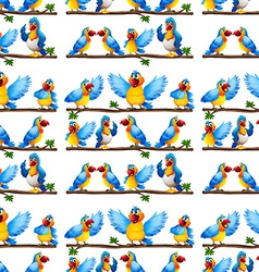Seamless parrot vector image