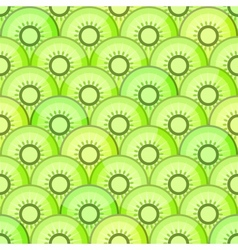 Seamless pattern with kiwi vector image vector image