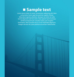 bridge on the blue background vector image