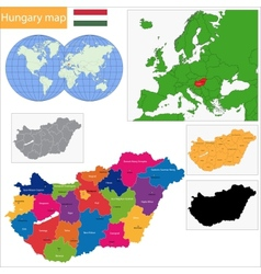 Hungary map vector image