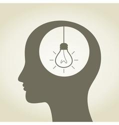 Idea in a head vector image vector image