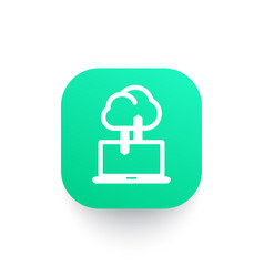 sync with cloud icon connection synchronization vector image