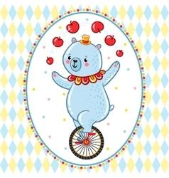 Wonderful of circus bear vector